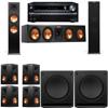 Klipsch RP-280F Tower Speakers-SW-112-7.2-Onkyo TX-NR838