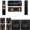 Klipsch RP-280F Tower Speakers-RP-250C-SW-112-7.2-Onkyo TX-NR838