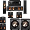 Klipsch RP-280F Tower Speakers-RP-450C-PL-200-7.2-Pioneer Elite SC-85
