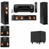 Klipsch RP-260F Tower Speakers-SDS12-5.1-Denon AVR-X4100W