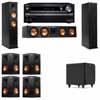 Klipsch RP-260F Tower Speakers-SDS12-7.1-Onkyo TX-NR838