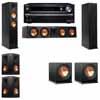 Klipsch RP-260F Tower Speakers-R112SW-5.2-Onkyo TX-NR838