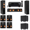 Klipsch RP-260F Tower Speakers-SDS12-7.2-Denon AVR-X4100W