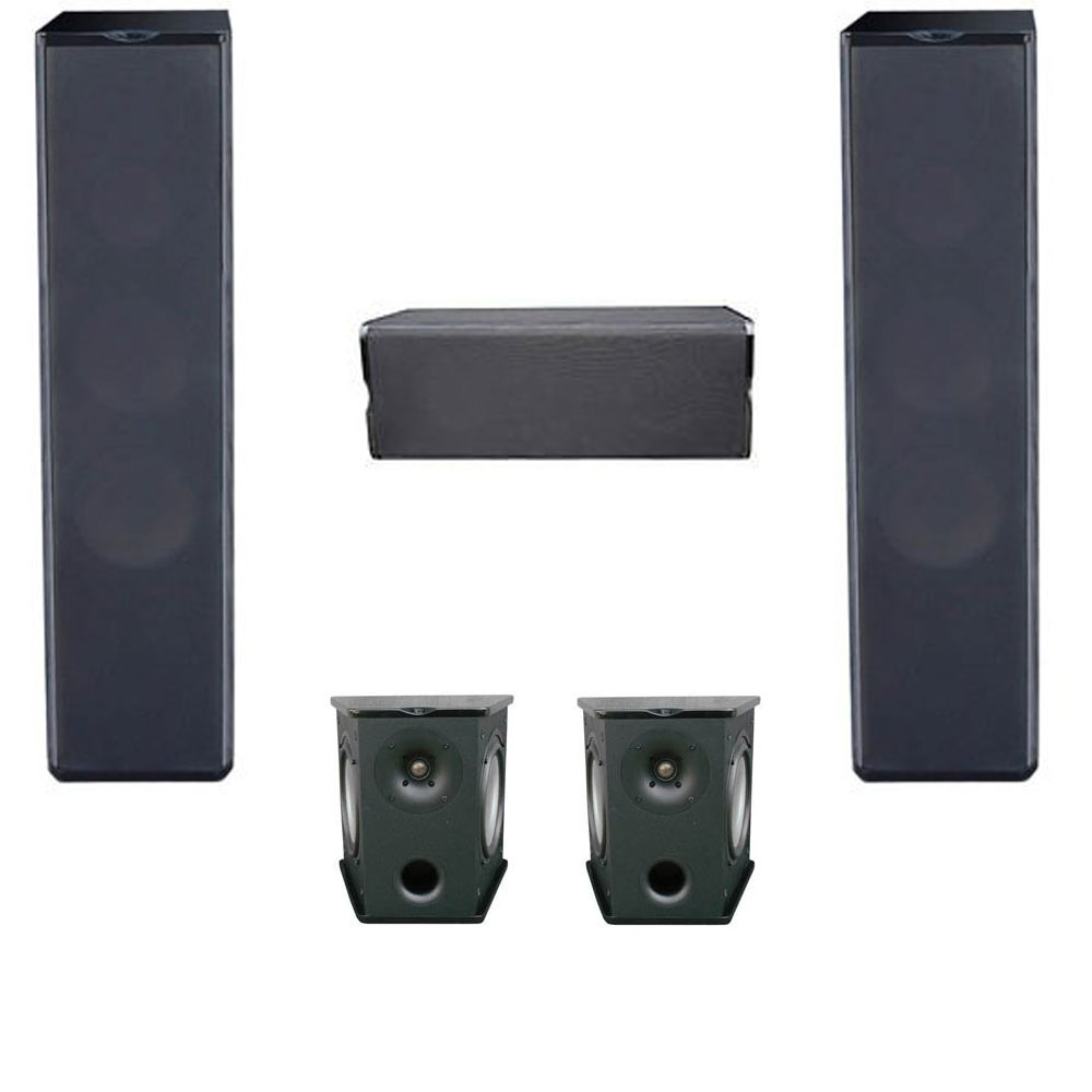 Premier Acoustic 5.0 Home Theater System Bundle with 2 PA-6F Tower Speakers, 2 PA-6S Surrounds, and 1 PA-6C Center Channel Speaker