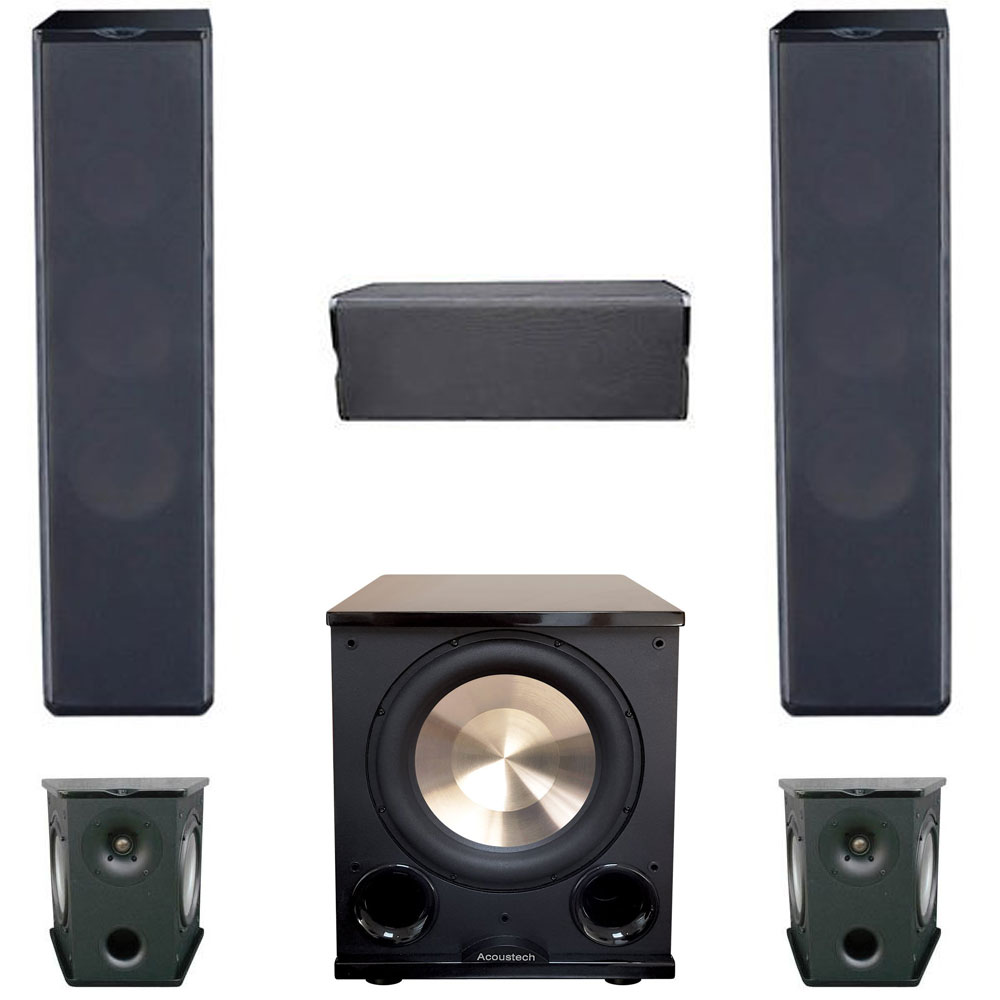 Premier Acoustic 5.1 Home Theater System Bundle with 2 PA-6F Tower Speakers, 2 PA-6S Surrounds, 1 PA-6C Center Channel Speaker, 1 BIC/Acoustech PL-200II Subwoofer