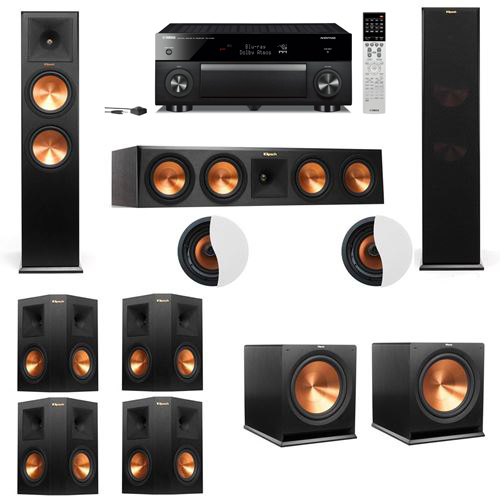 Dolby Atmos 7.2.2 Klipsch RP-280F Tower Speakers R115SW with Yamaha RX-A1060
