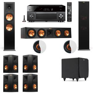 Dolby Atmos 7.1.2 Klipsch RP-280F Tower Speakers SDS12 with Yamaha RX-A3060