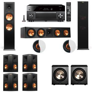 Dolby Atmos 7.2.2 Klipsch RP-280F Tower Speakers PL-200 withYamaha RX-A3060