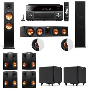 Dolby Atmos 7.2.2 Klipsch RP-280F Tower Speakers SDS12 with Yamaha RX-A3060