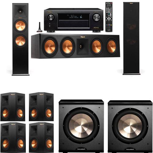 Klipsch RP-280F Tower Speakers-PL-200-7.2-Denon AVR-X3200W