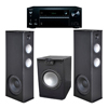 Premier Acoustic PA 8.12 Tower Speakers with PA-150 Subwoofer and Onkyo TX-NR676 Receiver