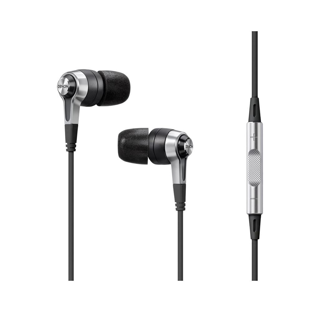 Denon AH-C620RBK Black In-Ear Headphone with Remote Microphone