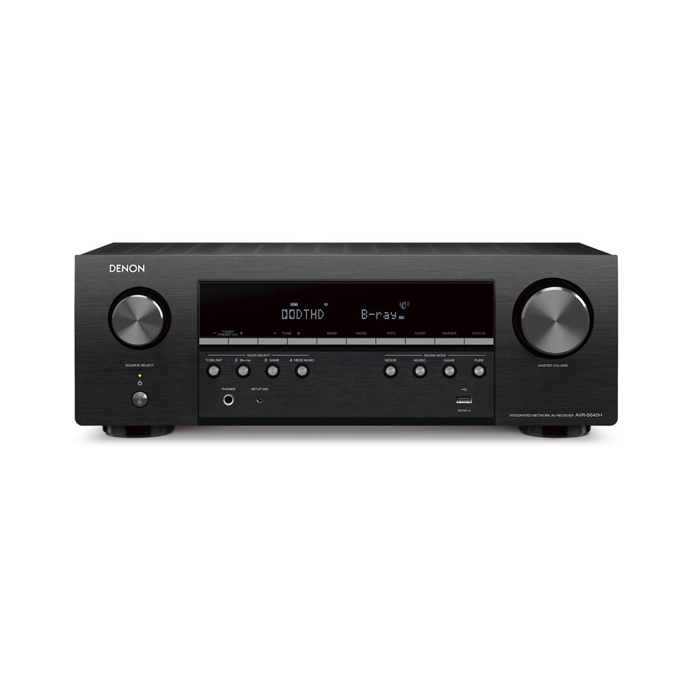 Denon AVR-S640H Black 5.2 Channel 4K Ultra HD Receiver