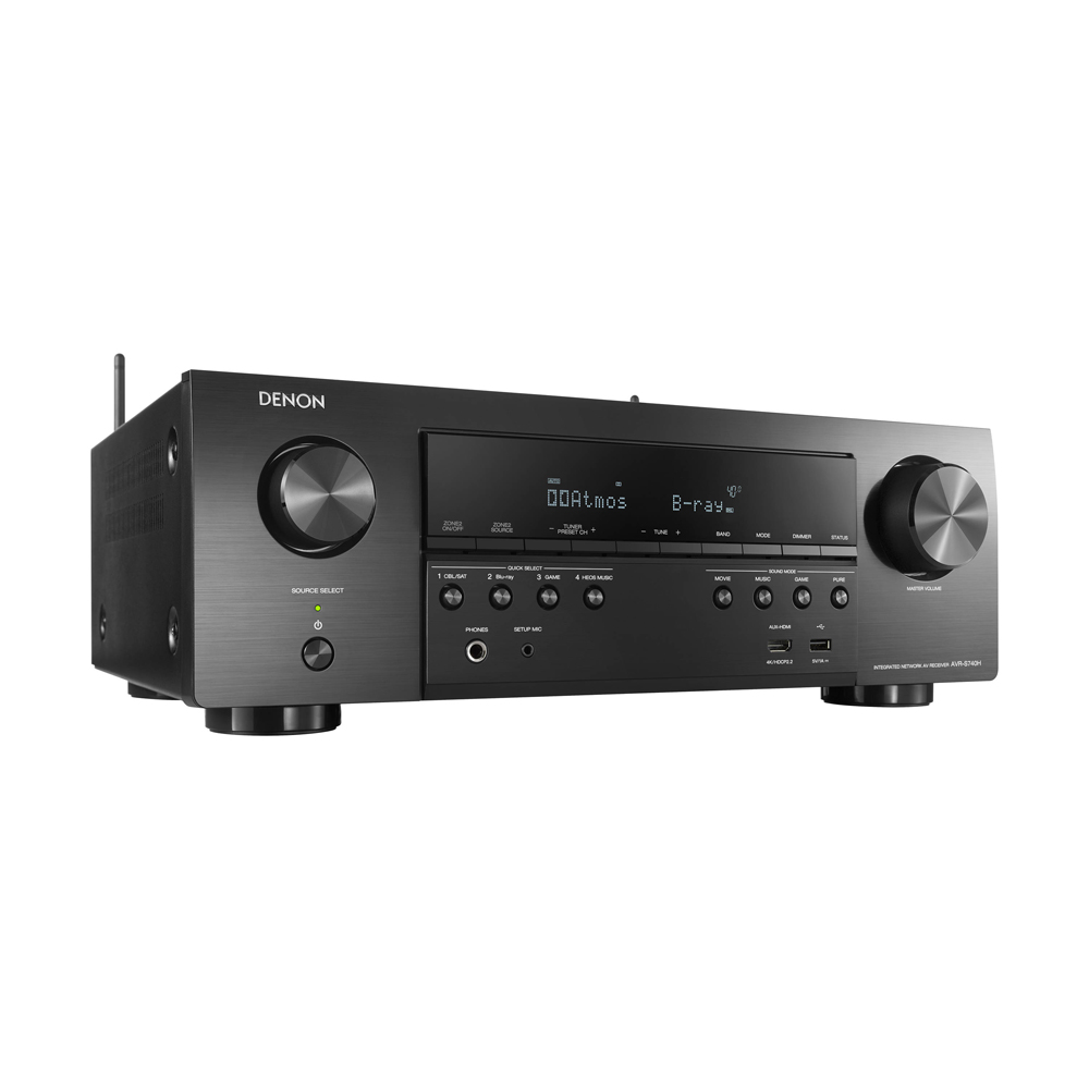 Denon AVR-S740H Black 7.2 Channel 4K A/V Receiver