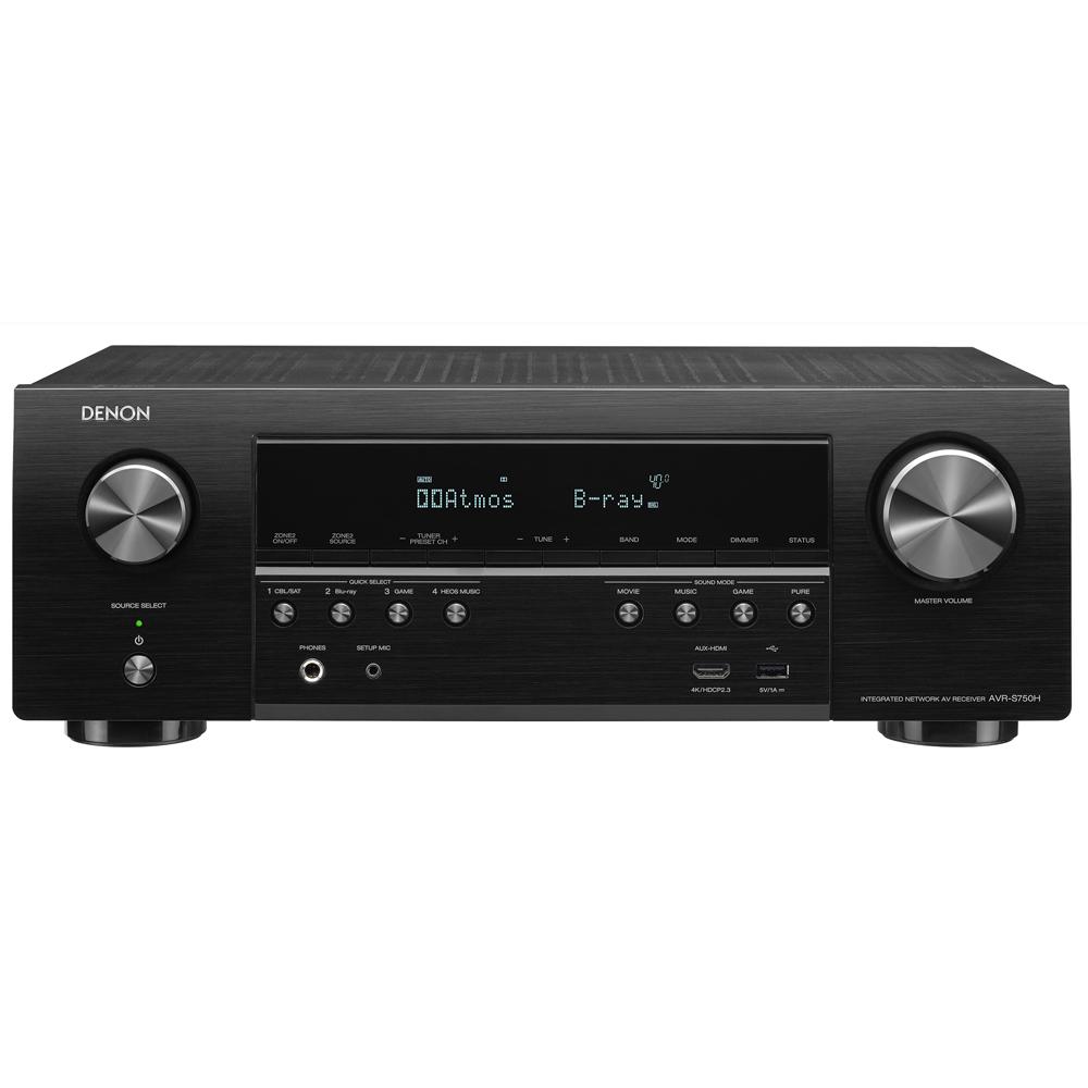 Denon AVR-S750H Black 7.2 Channel 4K A/V Receiver with Voice Control Compatibility
