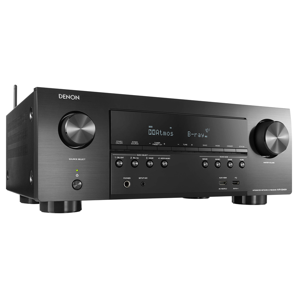 Denon AVR-S940H Black 7.2 Channel High-Power 4K A/V Receiver