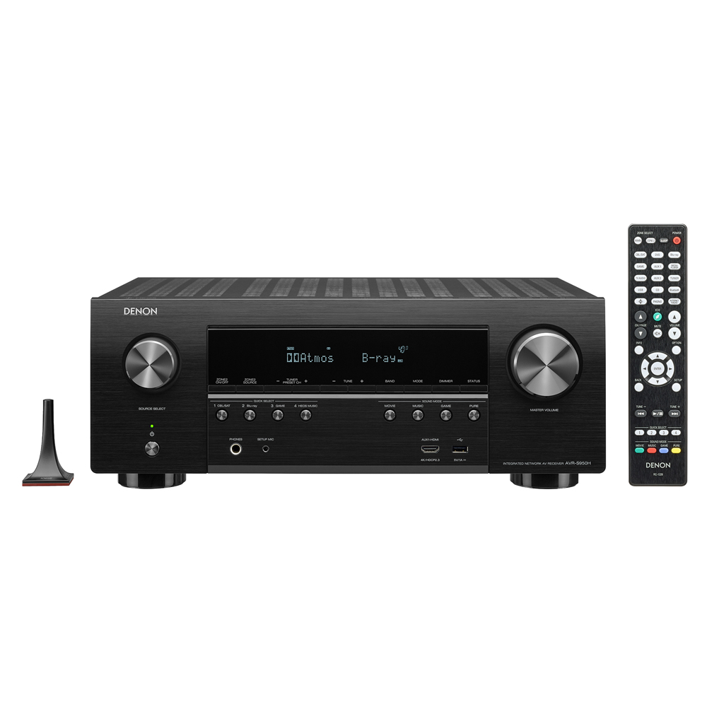 Denon AVR-S950H Black 7.2 Channel High-Power 4K A/V Receiver with Dolby Atmos and Voice Control