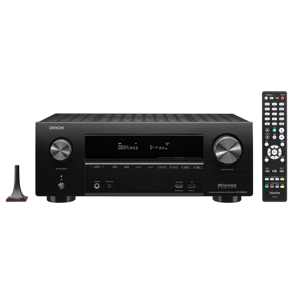 Denon AVR-X2600H Black 7.2 Channel Network A/V Receiver