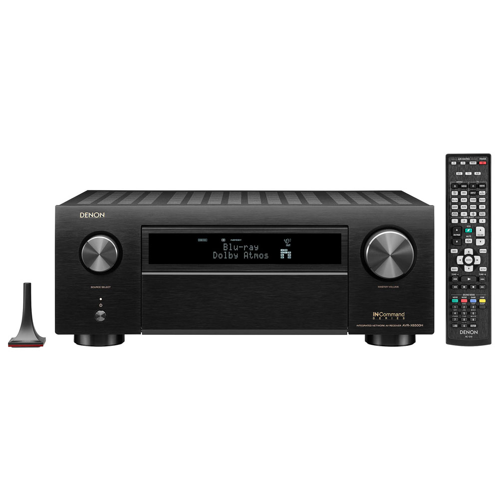 Denon AVR-X6500H Black 11.2 Channel 4K A/V Receiver with 3D Audio and Amazon Alexa Voice Control