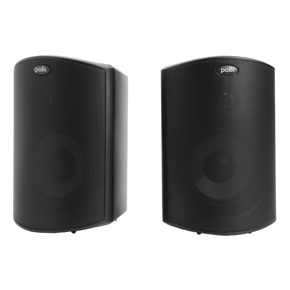 Polk Audio Atrium-4-BLK Black All Weather Outdoor Loudspeakers - Pair