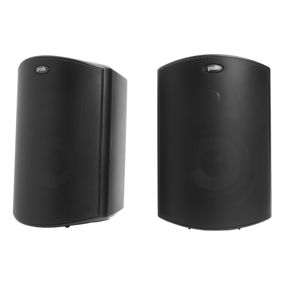 Polk Audio Atrium-5-BLK Black All Weather Outdoor Loudspeakers - Pair