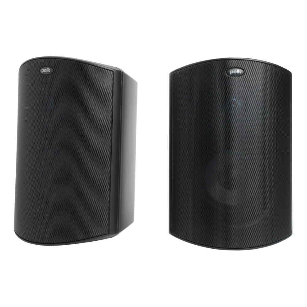 Polk Audio Atrium-6-BLK Black All Weather Outdoor Loudspeakers - Pair