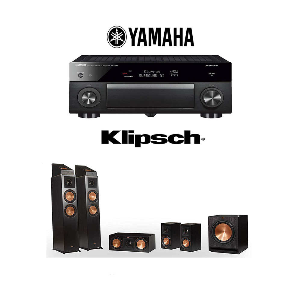 Details about Klipsch RP-6000F 5 1 2 Dolby Atmos Home Theater System with  Yamaha RX-A1080
