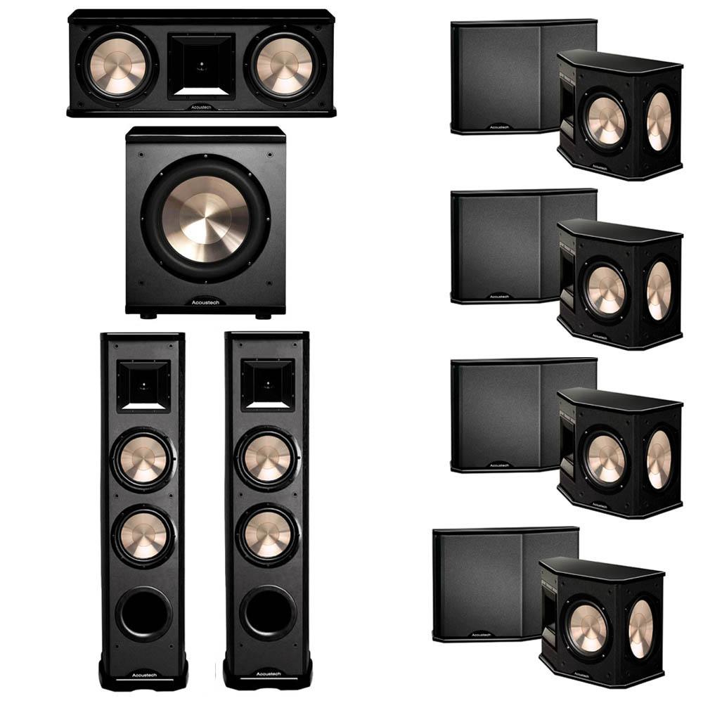 BIC Acoustech 7.1 System with 2 PL-89 II Floorstanding Speakers, 1 PL-28 II Center Speaker, 4 PL-66 Surround Speakers, 1 PL-200 Subwoofer