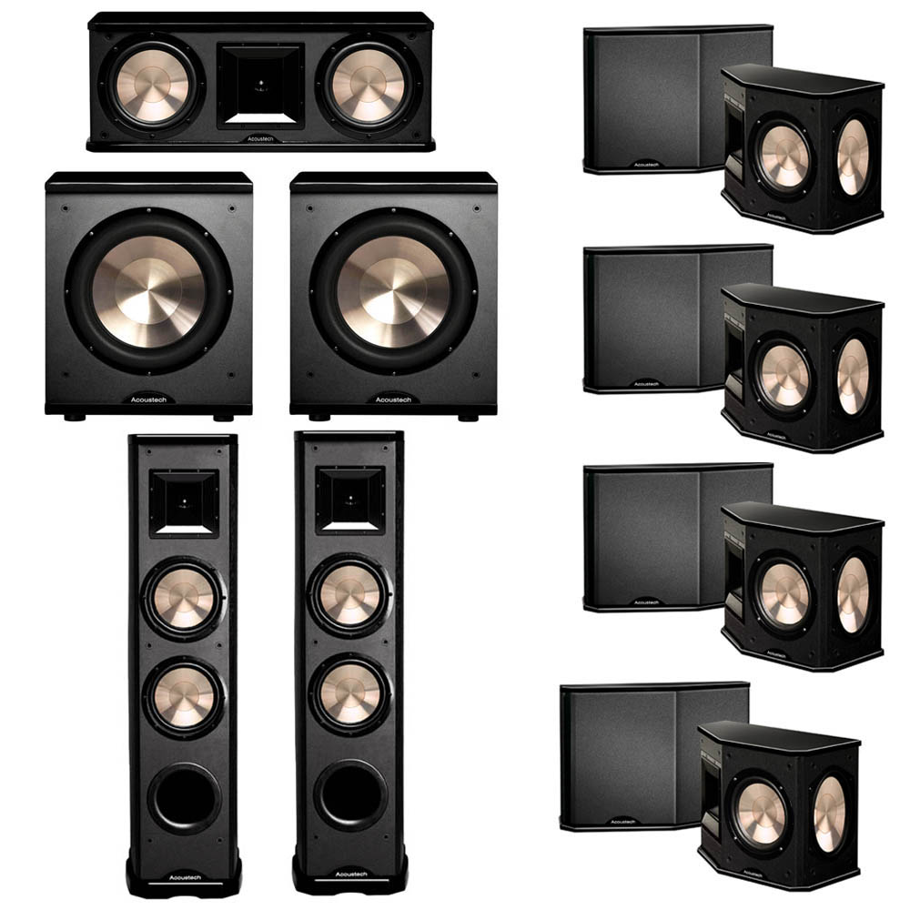 BIC Acoustech 7.2 System with 2 PL-89 II Floorstanding Speakers, 1 PL-28 II Center Speaker, 4 PL-66 Surround Speakers, 2 PL-200 Subwoofer