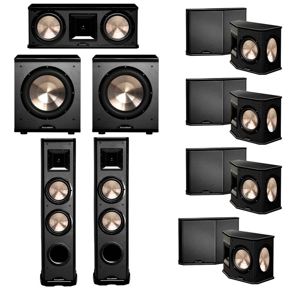 BIC Acoustech 7.2 System with 2 PL-89 II Floorstanding Speakers, 1 PL-28 II Center Speaker, 4 PL-66 Surround Speakers, 2 PL-200 Subwoofer