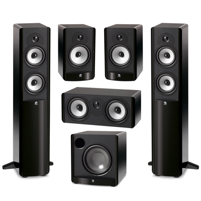 Boston Acoustics 51 System With 2 A250 Floorstanding Speakers 1 A225C Center Channel Speaker A26 Bookshelf ASW650 10 Inch