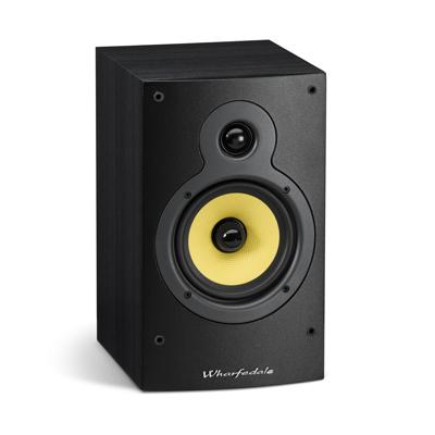 Wharfedale Crystal Series 5-inch 2-Way CR4.2 Black Ash Bookshelf Speaker - Pair