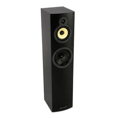 Wharfedale Crystal Series 3-Way CR4.3 Black Ash Floorstanding Speaker with 6.5-inch Bass Driver - Pair