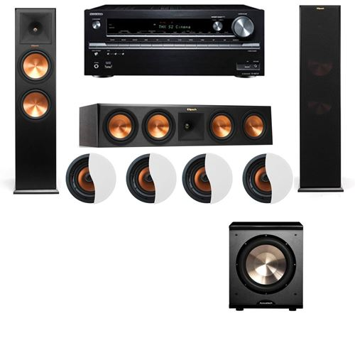 Dolby Atmos 3.1.4 Klipsch RP-280F Tower Speakers PL-200 with Onkyo TX-NR838
