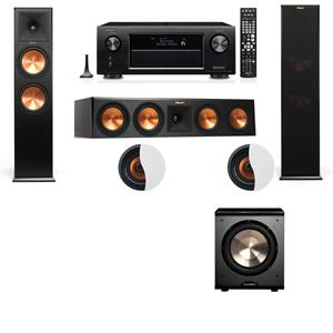 Dolby Atmos 3.1.2 Klipsch RP-280F Tower Speakers PL-200 with Denon AVR-X3200W