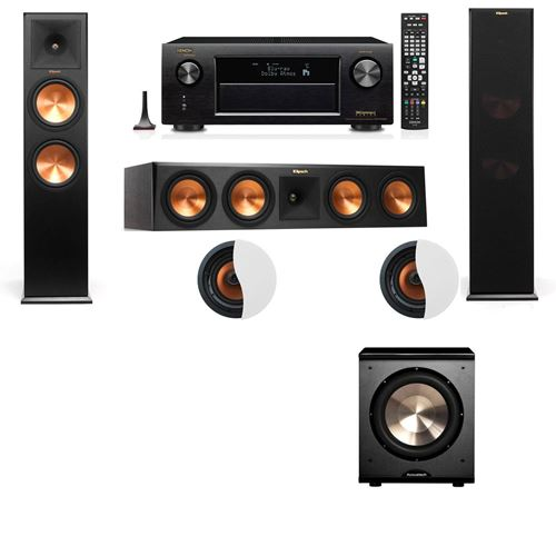 Dolby Atmos 3.1.2 Klipsch RP-280F Tower Speakers PL-200 with Denon AVR-X4100W