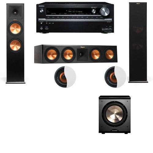 Dolby Atmos 3.1.2 Klipsch RP-280F Tower Speakers PL-200 with Onkyo TX-NR838