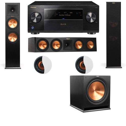 Dolby Atmos 3.1.2 Klipsch RP-280F Tower Speakers R115SW and Pioneer Elite SC-85