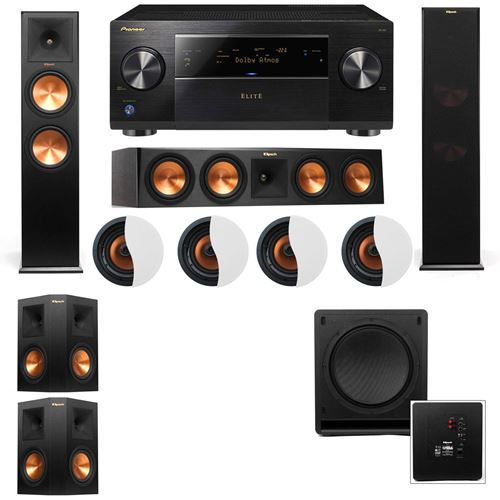 Dolby Atmos 514 Klipsch RP 280F Tower Speakers SW 112 With Pioneer Elite SC 85