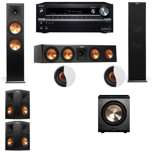Dolby Atmos 5.1.2 Klipsch RP-280F Tower Speakers PL-200 with Onkyo TX-NR838
