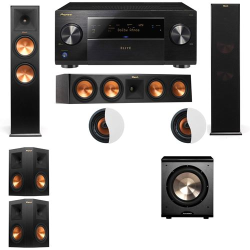 Dolby Atmos 5.1.2 Klipsch RP-280F Tower Speakers PL-200 with Pioneer Elite SC-85