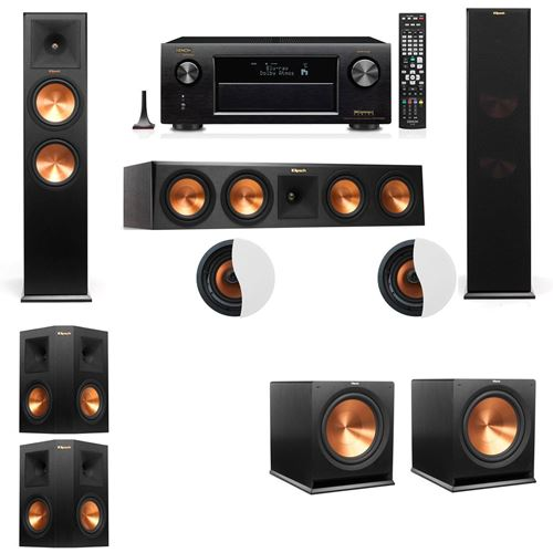 Dolby Atmos 5.2.2 Klipsch RP-280F Tower Speakers with Denon AVR-X4100W