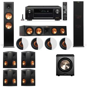 Dolby Atmos 7.1.4 Klipsch RP-280F Tower Speakers PL-200 with Denon AVR-X4200W