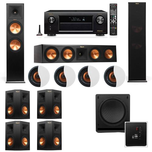 Dolby Atmos 7.1.4 Klipsch RP-280F Tower Speakers SW-112 with Denon AVR-X4100W