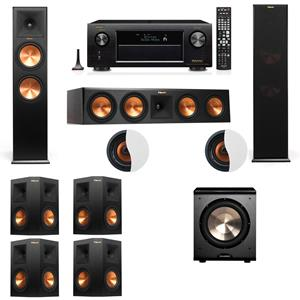 Dolby Atmos 7.1.2 Klipsch RP-280F Tower Speakers PL-200 with Denon AVR-X4200W