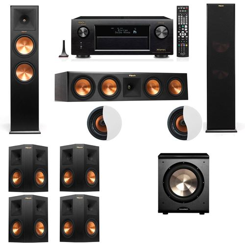 Dolby Atmos 7.1.2 Klipsch RP-280F Tower Speakers PL-200 with Denon AVR-X4100W