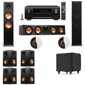Dolby Atmos 7.1.2 Klipsch RP-280F Tower Speakers SDS12 with Denon AVR-X4200W