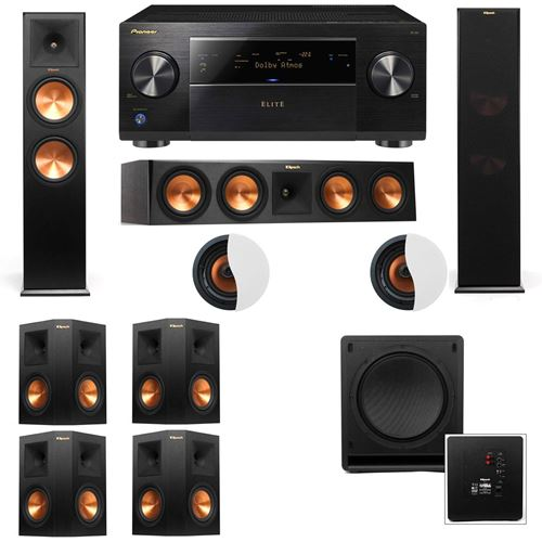 Dolby Atmos 7.1.2 Klipsch RP-280F Tower Speakers SW-112 with Pioneer Elite SC-85