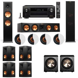 Dolby Atmos 7.2.4 Klipsch RP-280F Tower Speakers PL-200 with Denon AVR-X3200W