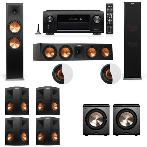 Dolby Atmos 7.2.2 Klipsch RP-280F Tower Speakers PL-200 withDenon AVR-X4100W